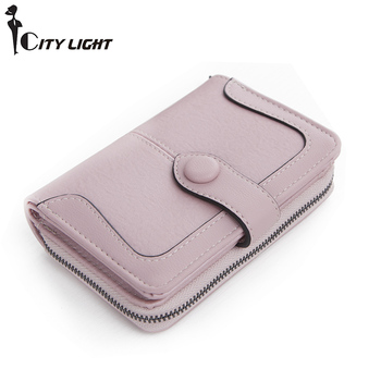 Wallet Female PU Leather Wallet Fashion Purse Short Style Fold Top Quality Women Multifunction Coin Purse Card Holders Carteras