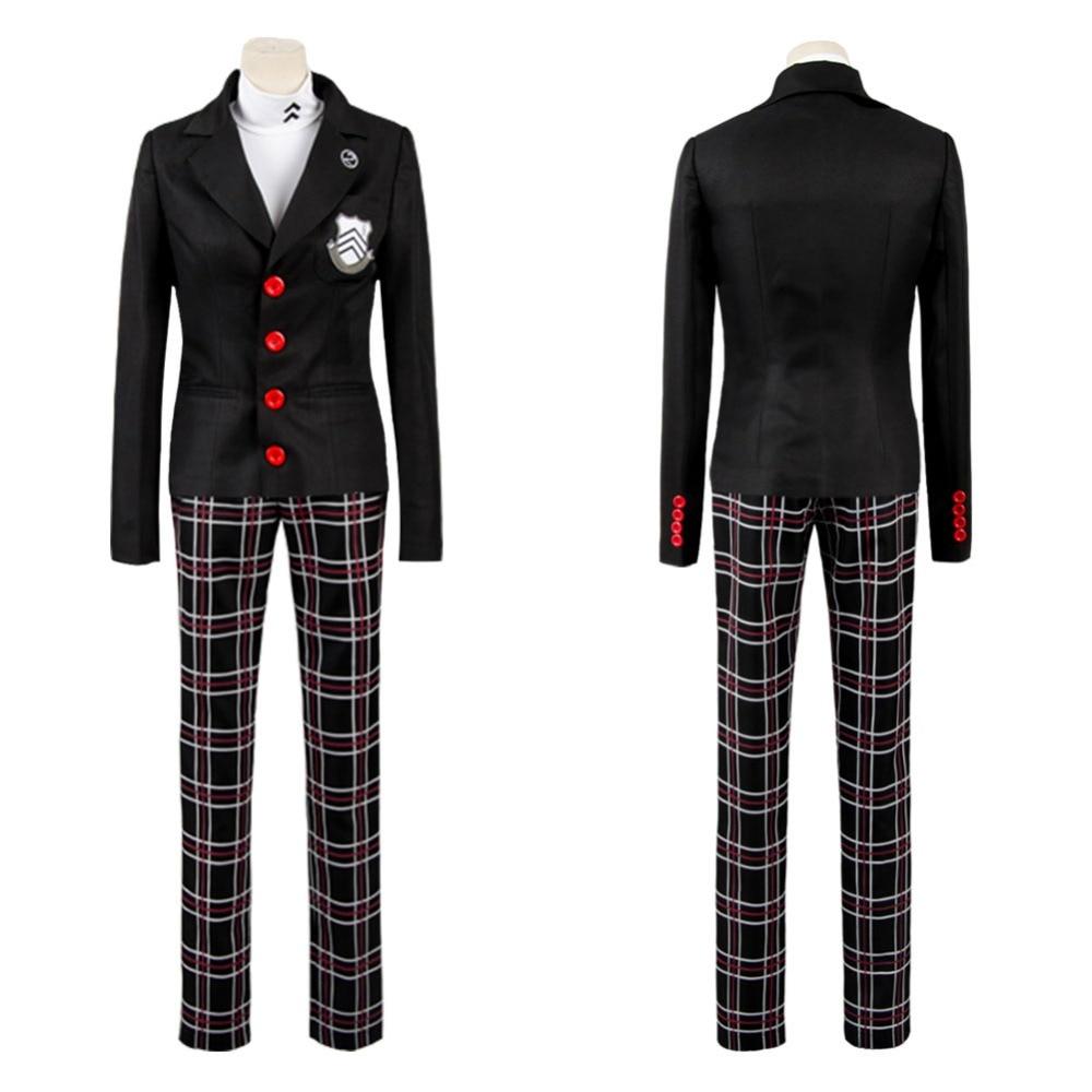 Allten Persona 5 Akira Kurusu Ren Black Boots Shoes Cosplay Costume