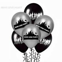 Fortnight фигурка черные и серебряные латексные воздушные шары Шахтерская игрушка праздничные украшения ночные принадлежности материал виды игрушек