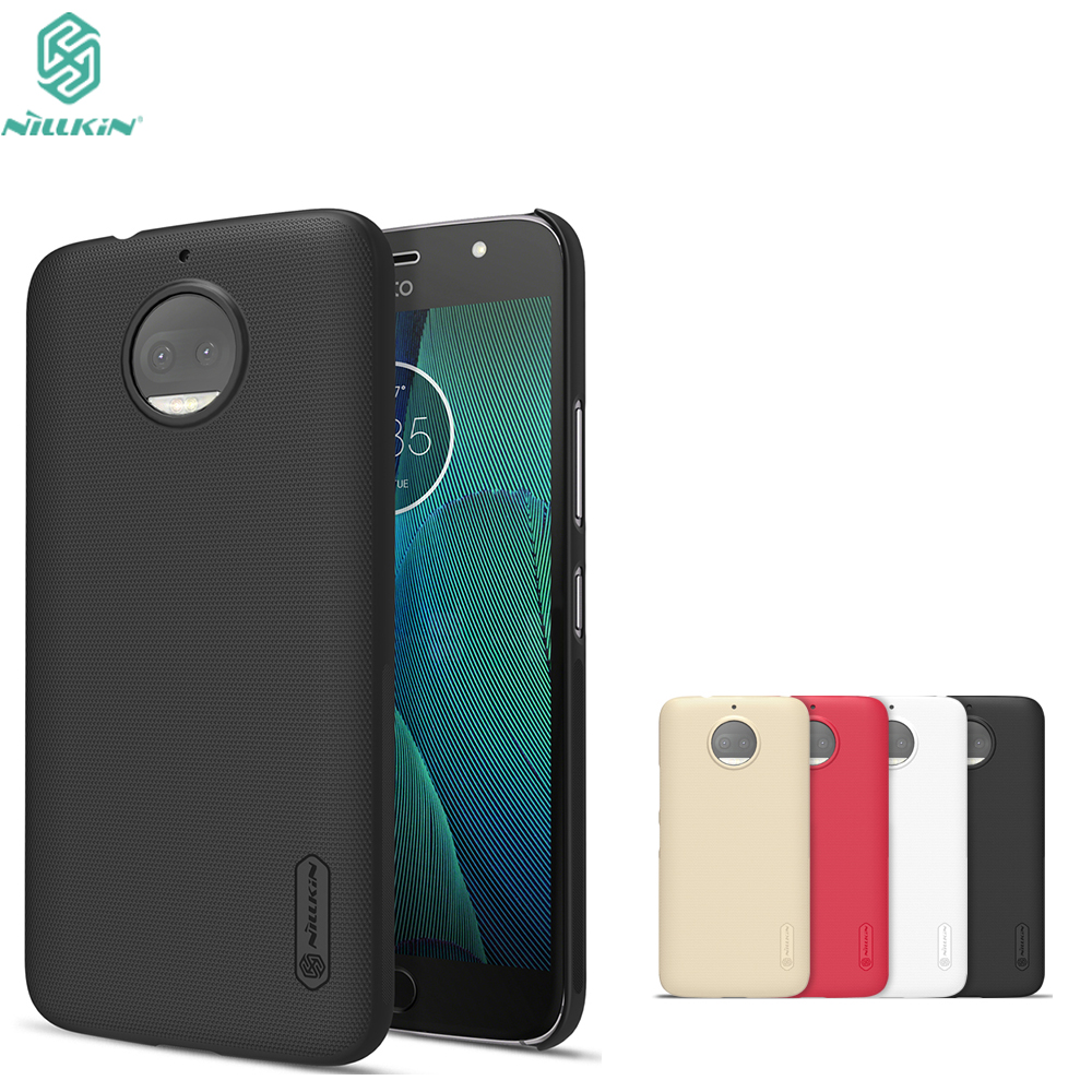 new style 47840 a46d0 US $7.19 35% OFF|For moto G5S case Nillkin Frosted PC Plastic back cover  for motorola moto g5s plus case with screen protector For moto G5S cover-in  ...