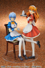 Anime Shikinami Asuka Langley Maid 20cm PVC Action Figure Toy Doll for Neon Genesis Evangelion EVA kids gift rmdmyc neon genesis evangelion erza 1 8 scale painted pvc action figure toys cute eva maid dress rei ayanami