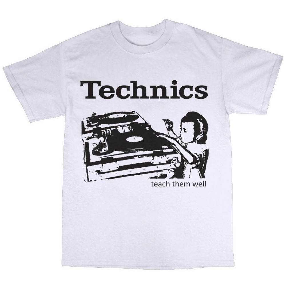Create Shirts O-Neck Design Short Sleeve Mens SL-1210 DJ Decks T-Shirt 100% Cotton SL-1200 Turntables Mk2 Mk5 Record T Shirts