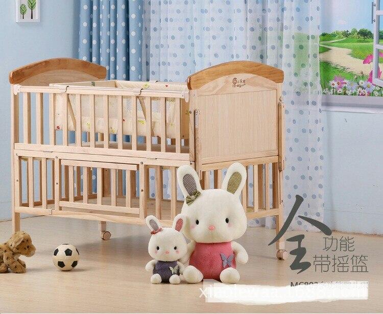 Culle per bambini biancheria da letto in legno massello bambino