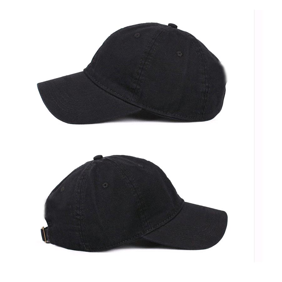b506583bede 100% Cotton Snapback Adult Customized Baseball caps can add 3D Embroidery  LOGO hats Sun Baseball Black cap Peaked soft hat-in Baseball Caps from  Apparel ...