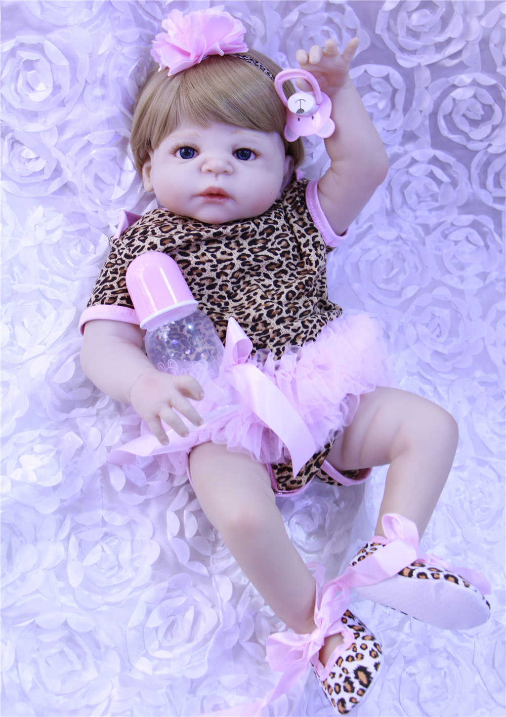 blond hair Reborn Baby Doll Lifelike full Silicone Vinyl Girl Body Newborn Babies 55cm blue eyes princess Kids Birthday Gift toyblond hair Reborn Baby Doll Lifelike full Silicone Vinyl Girl Body Newborn Babies 55cm blue eyes princess Kids Birthday Gift toy