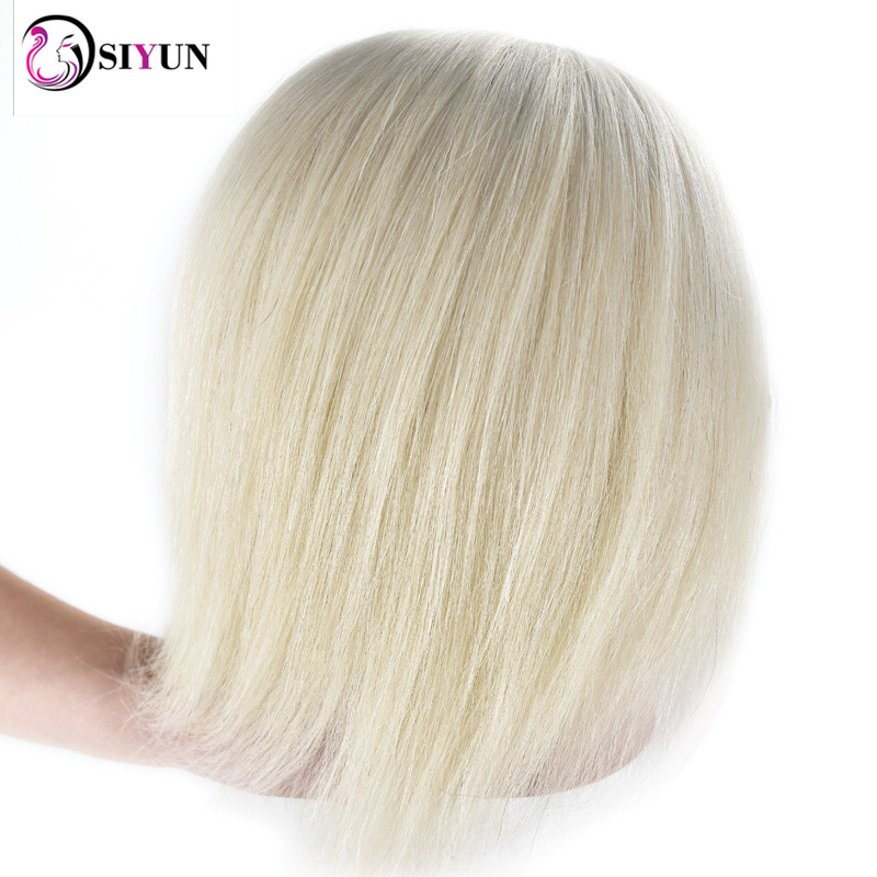 New Female 35cm White Real Human Hair Salon Hairdressing Training Practice Mannequin Head Wig Dolls Hairstyles Training Manikin
