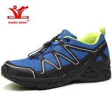33bb1d9283f2 XIANG GUAN Для мужчин s светло Вес Trail Running обувь дышащая уличная спортивная  обувь походная обувь