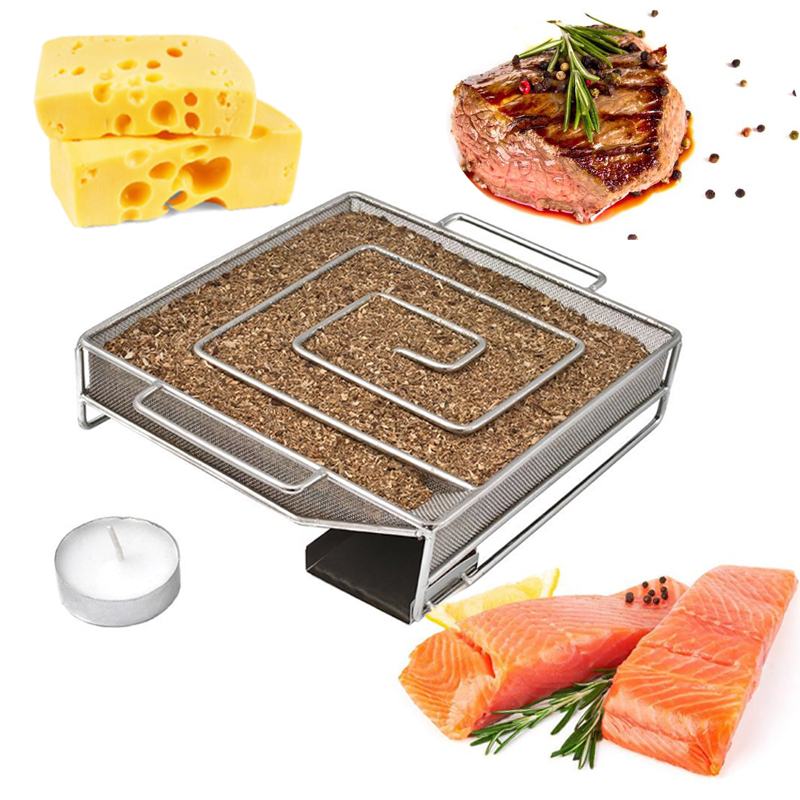 Cold Smoke Generator Charcoal Barbecue Grill Cooking Tools Wood Chip Smoker Smoking Outdoor Cooking For BBQ Grill Accessories