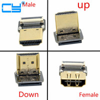 FPV HDMI Type A Male/Female Connector Up/Down Angled 90 Degree for FPV HDTV Multicopter Aerial Photography