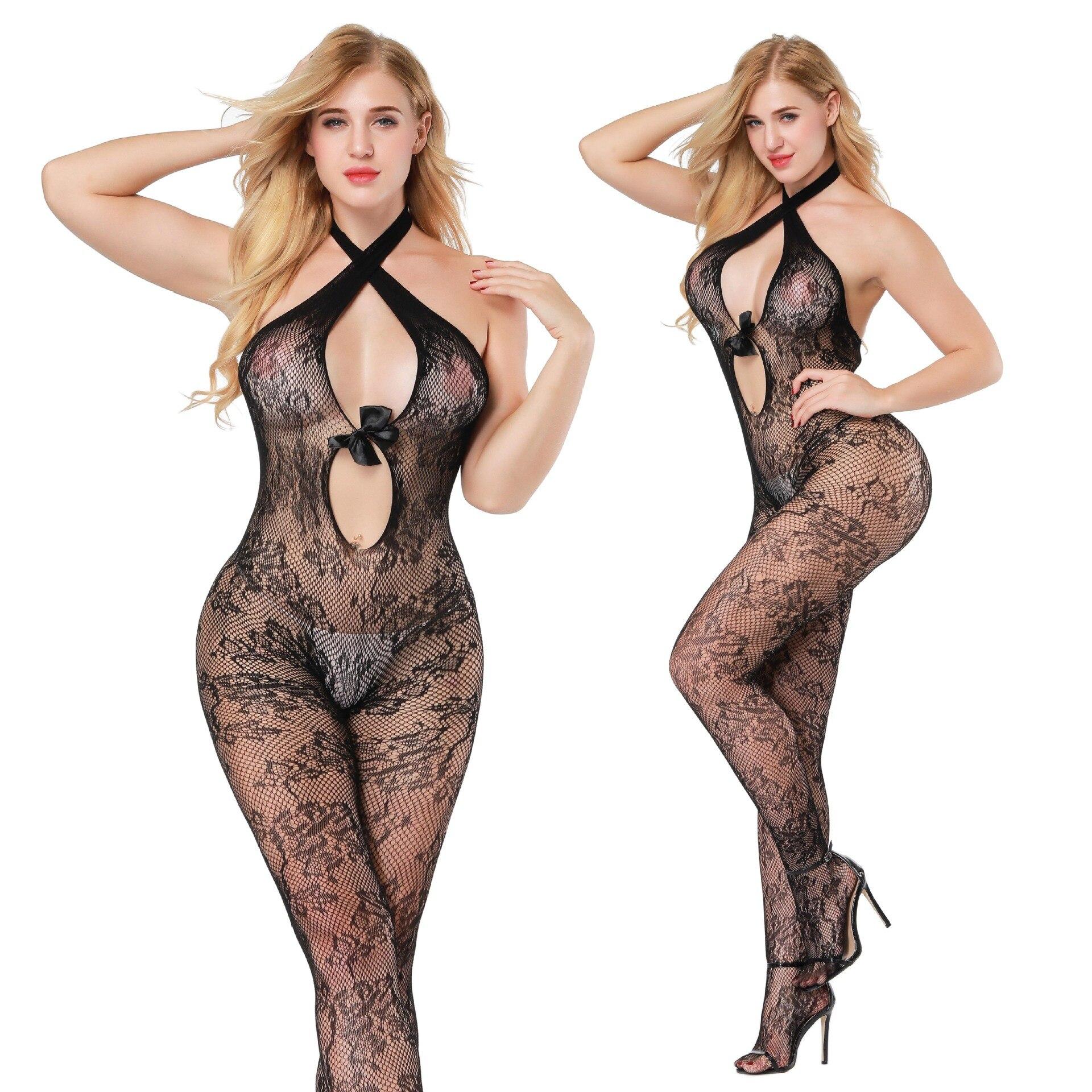 Dynamisch Sexy Siamese Panty Sexy Lingerie Hoge Elastische Strakke Holle Mesh Sexy Netto Jurk Jacquard Perspectief Body Dingen Geschikt Maken Voor De Mensen
