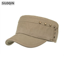 SILOQIN 2019 New Style Men's Vintage Cotton Military Hats Adjustable Size Retro Flat Top Caps For Adult Men Bone Brand Dad's Hat фильтр салонный amiwa microfix 20 01 053
