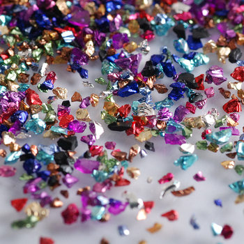 Wholesale prices 450g/Bag Broken Glass Rhinestones for Nails Gems 3D Mix Nail Art Rhinestone Decorations Stones 4