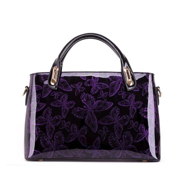 YANXI Factory Outlet Butterfly Patent Leather Shoulder Vintage Handbag Hard Messenger Women Bag Designer Handbags High Quality