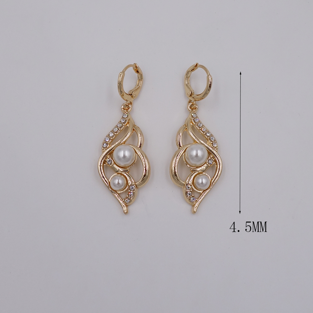 Online Shop 2016 New Fashion Women Pearl Earring Dubai Gold Color Earrings  African Wedding Women Classic Jewelry Set  Aliexpress Mobile