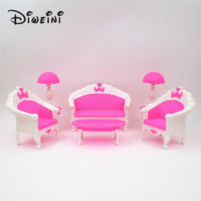 Fábrica 6 Unids Pack Dollhouse Muebles Salón Salón Sofá Silla Set - Muñecas y peluches - foto 2