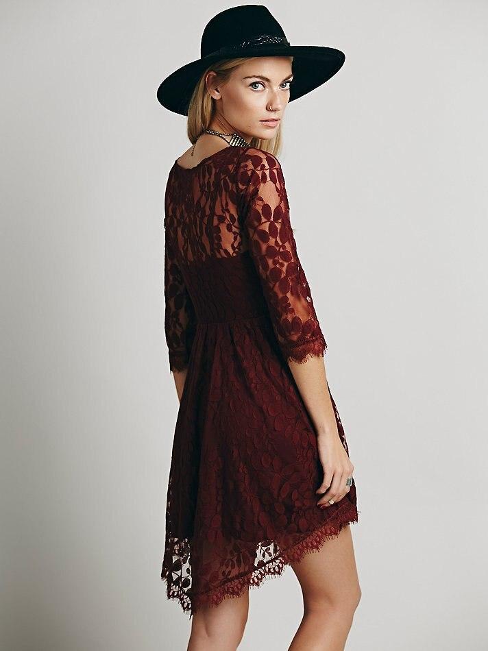 Jastie цветочное Сетчатое летнее платье Boho Хиппи с вышивкой, прозрачные кружевные платья с нижней кромкой, женское платье(без подкладки