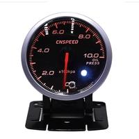 2.5 Inch 60mm Car Oil Pressure Gauge DC12V Universal Stepper Motor Digital LED Oil Fuel Press Pressure Gauge Meter Instrument
