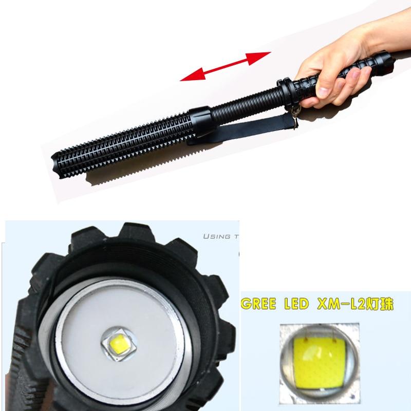 Hot 3500LM CREE L2 LED Spiked Mace Baseball Bat Long Flashlight Self-defense Torch Lamp 3 Mode цена и фото