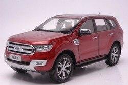 1:18 литая под давлением модель для Ford Everest Endeavour Red SUV, игрушечная машинка из сплава, миниатюрная коллекция, Подарочная форма, рейнджер