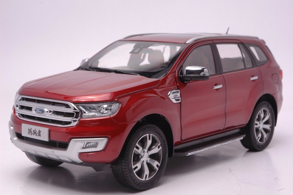 1:18 Diecast Model for Ford Everest Red SUV Alloy Toy Car Miniature Collection Gift Form Ranger mercedes benz sls 1 18 maisto amg gt car model alloy diecast boy gift collection sports car fast