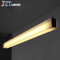 М Современный и лаконичный полосы Тип акрил подвесной светильник LED 40 Вт G5 Офис Ресторан света высокой Класс акрил и металлические лампы Тен