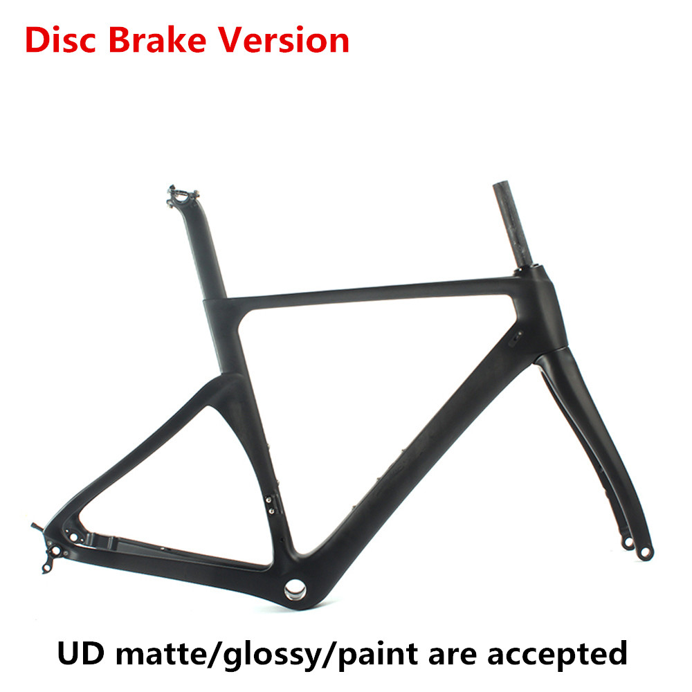 49cm Disc brake design light weight Sobato road <font><b>bike</b></font> <font><b>frame</b></font> carbon road <font><b>frame</b></font> UD matt