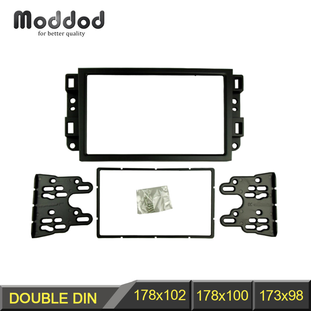 Double Din Fascia for Chevrolet Aveo Lova Captiva Gentra Radio DVD Stereo Panel Dash Montering Montering Trim Kit Frame Bezel