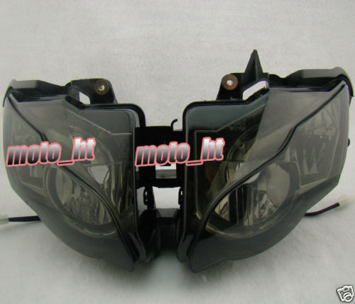 Smoke Headlight For Honda CBR1000RR 2008 2009 2010 2011, Front Motorcycle Lighting Headlamp Replacements BLACK Color arashi motorcycle radiator grille protective cover grill guard protector for 2008 2009 2010 2011 honda cbr1000rr cbr 1000 rr