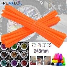 72Pcs/Pack Off-road Bike Wheel spoke skins Colorful Motocross Rims Skins Covers For YAMAHA TT600R TW200 WR125X WR250 WR450 XT660