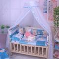 Cuna de bebé Infant Bed Canopy Mosquitera Tent Cuna Netting soporte Niños Cama de Bebé Accesorios Hung Dome Piso Blanco Neto verano