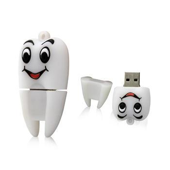 Mini USB flash drive cartoon tooth memory stick u disk pen drive 128GB 64GB 32GB 16GB 8GB 4GB cute Personalized gift pendrive цена 2017