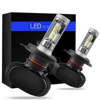 2PCS Lot Car Styling Car 12V Headlights Bulbs 6500K White CSP Chips 50W Auto LED Kits