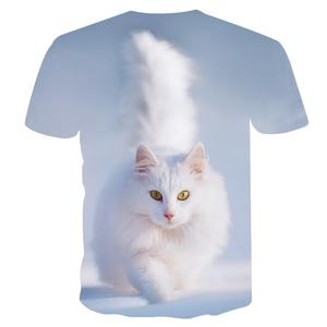 Image 2 - Off לבן חתול הדפסת t חולצת נשים חולצת טי מזדמן מצחיק t לליידי ילדה למעלה טי הברנש harajuku זרוק ספינה בתוספת גודל M 5XL