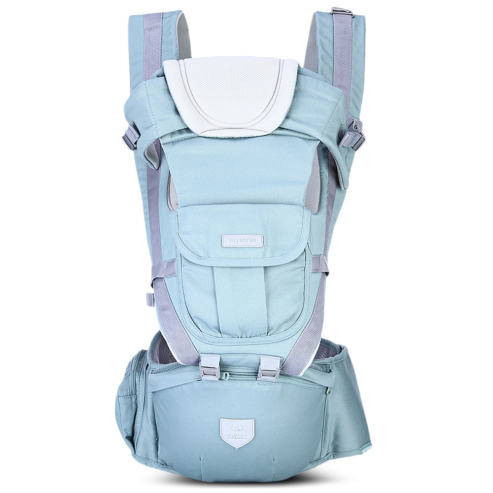 Bethbear 3 in 1 Safe Hipseat Ergonomic Baby Carrier 0-36 Months Wrap Infant