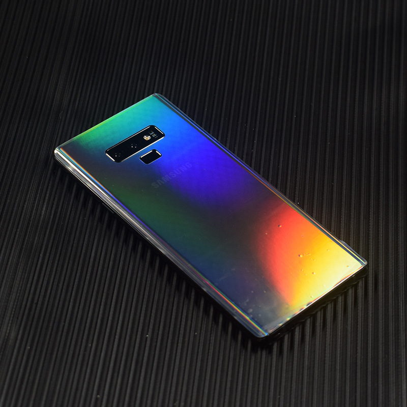 HOT!!Aurora Gradient Transparent Decorative For Samsung Galaxy Note 9 10 <font><b>S10</b></font> S9 S8 Phone Protector Back Film <font><b>Stickers</b></font> image