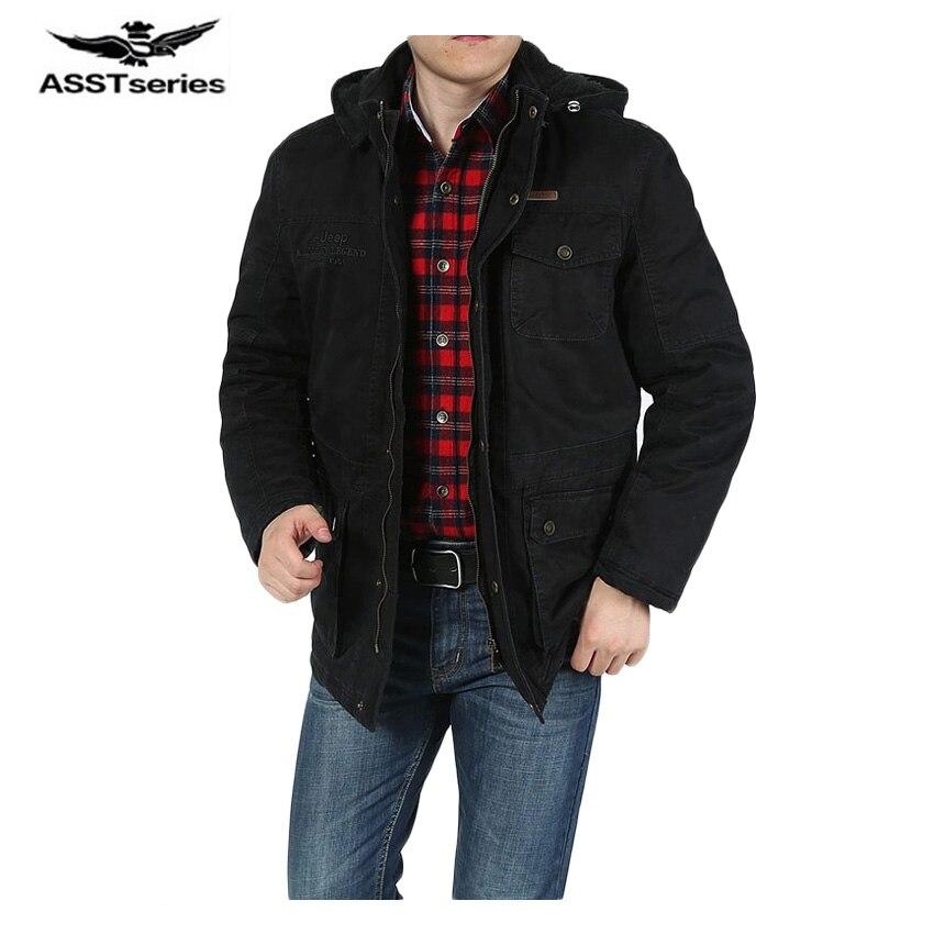 2017 Лидер продаж Для мужчин пальто Толстые Для мужчин S куртка с капюшоном модные парки для Для мужчин одежда зимняя куртка плюс Размеры M-5XL ...
