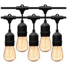 5M 10M LED étanche extérieure chaîne lumières qualité commerciale E27 ampoules rue jardin Patio arrière cour vacances fête chaîne lumières