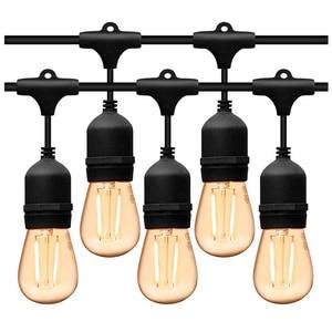 Image 1 - 5M 10M Waterdichte Outdoor Led String Lights Commerciële Grade E27 Lampen Straat Tuin Patio Achtertuin Holiday Party String lichten