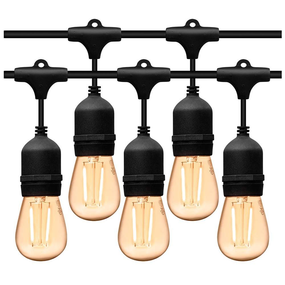 5M 10M impermeable al aire libre LED cuerda de luces de grado comercial E27 bombillas calle Jardín Patio trasero fiesta luces