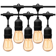 5M 10M su geçirmez açık hava LED dize ışıkları ticari sınıf E27 ampuller sokak bahçe veranda köy tatil parti dize ışıkları