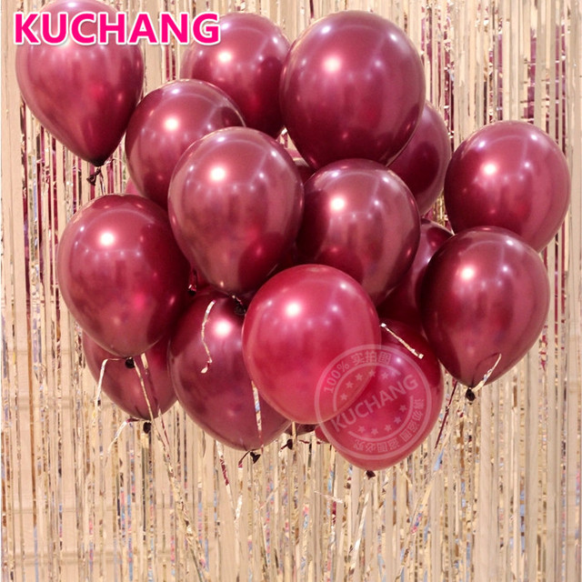 20pcs lot 12inch sparkling burgundy wine red latex balloons wedding