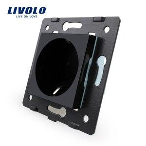 Livolo مقبس DIY أجزاء ، الأبيض المواد البلاستيكية ، الاتحاد الأوروبي الموحدة ، وظيفة مفتاح للاتحاد الأوروبي مقبس الحائط ، VL-C7-C1EU-11