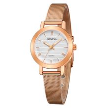 Женские часы с ремешком из сплава Модные контрастные бизнес-Дизайн Женские часы кварцевые часы модные женские часы Montre Femme reloj