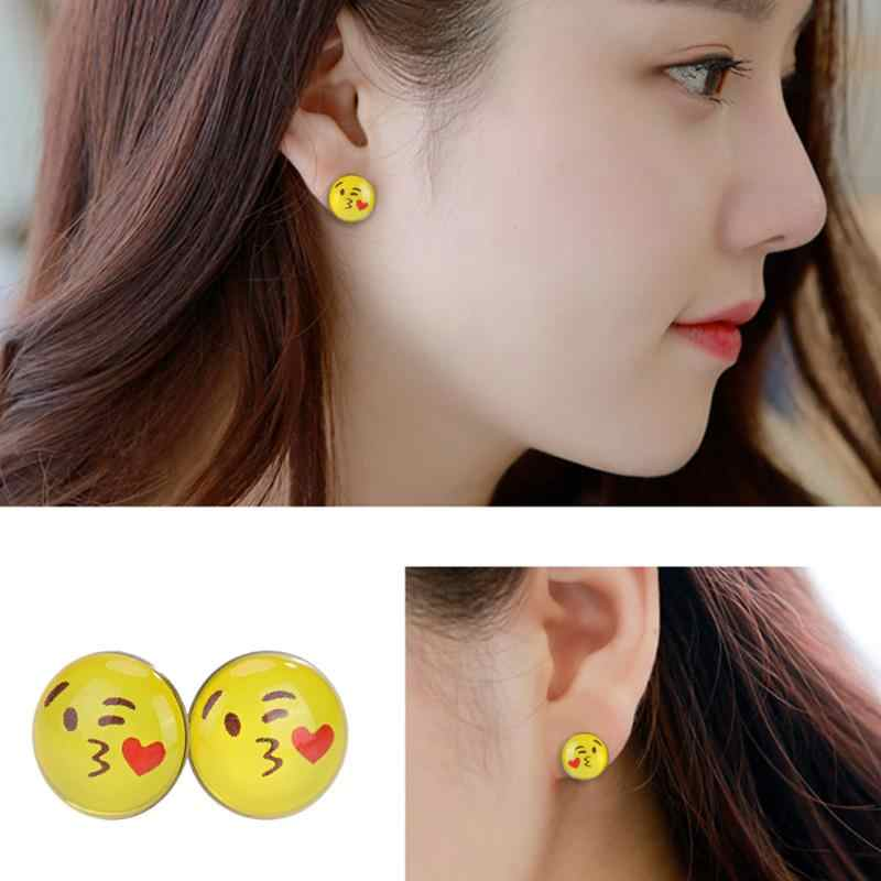 14c002c82 New Design 36 Pairs Emoji Funny Happy Face Stud Earring for Women Girls  Trendy Ear Jewelry