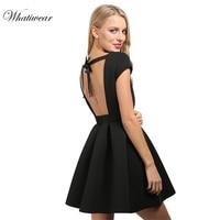 Gagaopt 2016 Women Summer Dresses Open Back Bow Dress