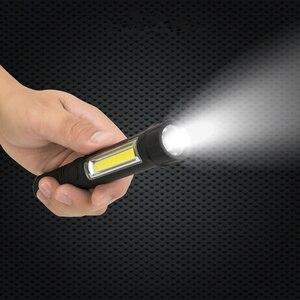Image 5 - 多機能cob ledミニペントーチ軽作業検査led懐中電灯トーチランプ下部磁石とクリップで黒/レッド/ブルー