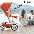 Diseño alemán quintus lujo araña euro estándar marco de la aleación de aluminio del carro de bebé del cochecito de bebé de alta paisaje sentado mentirosos