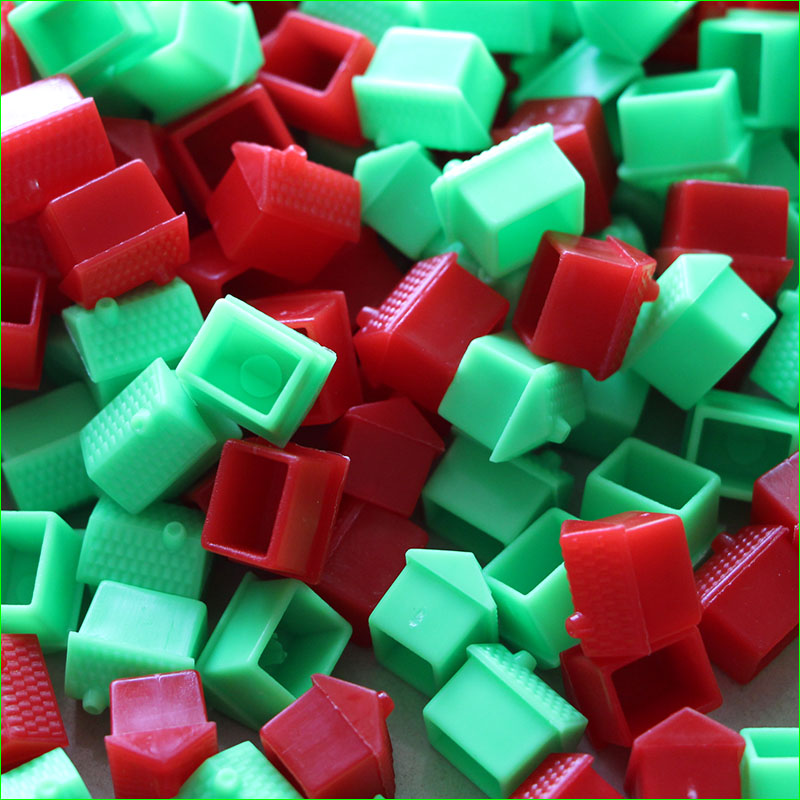 100 Pieces 14*15*14 Mm Refill House Plastic Pieces Props Supplies For Chess Board Game