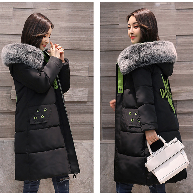 Winter Women Long thick parkas Coat Jacket With Faux Fur Hooded Puffer Outwear Plus Large Windproof Overcoat jaqueta feminina jacket warm woman parkas female overcoat hooded plus size winter thick coat jaqueta feminina chaqueta mujer casacos de inverno