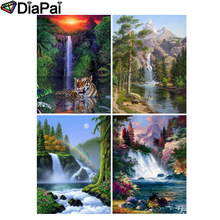 DIAPAI 5D DIY Diamond Painting 100% Full Square/Round Drill Waterfall scenery 3D Embroidery Cross Stitch Home Decor цена